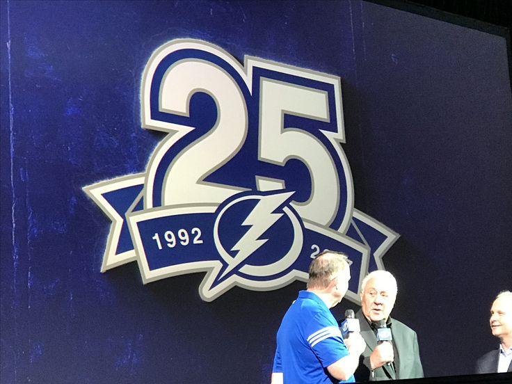 Tampa Bay Lightning's 25th Anniversary Logo and Lightning