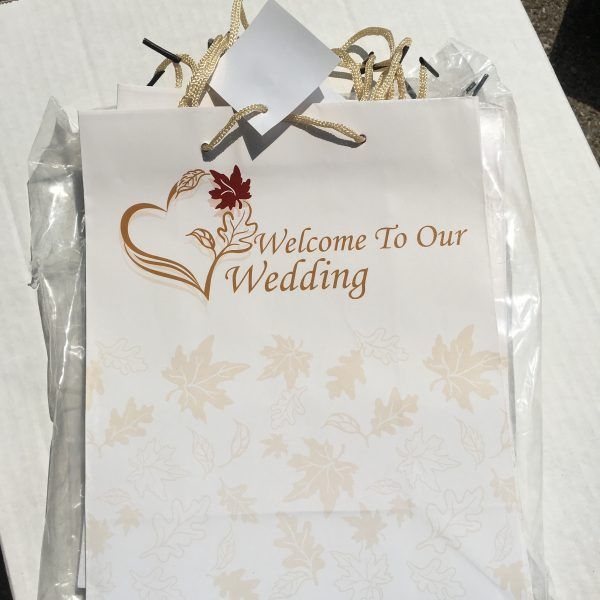 Welcome To Our Wedding Weekend Gift Bags: Welcome To Our Wedding Gift Bags