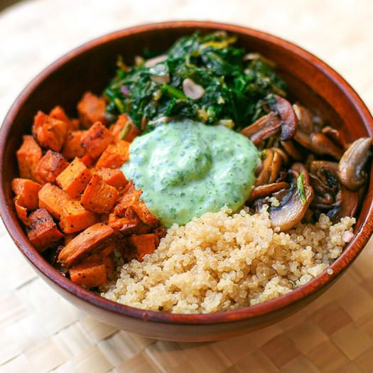 Buddha bowls (also known as nourish bowls or hippie bowls) are hearty, meatless dishes that serve as the perfect lunch or dinner option. Try these recipes from dietitians for tasty and nourishing all-in-one meals.