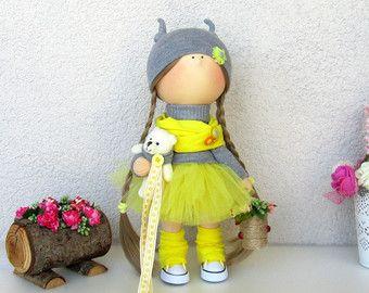 Annette Doll-Handmade Doll-Fabric Doll-Rag от NICEDOLLSANDRABBITS