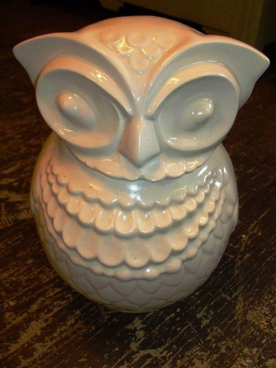 Owl Cookie Jar, Vintage Kitchen