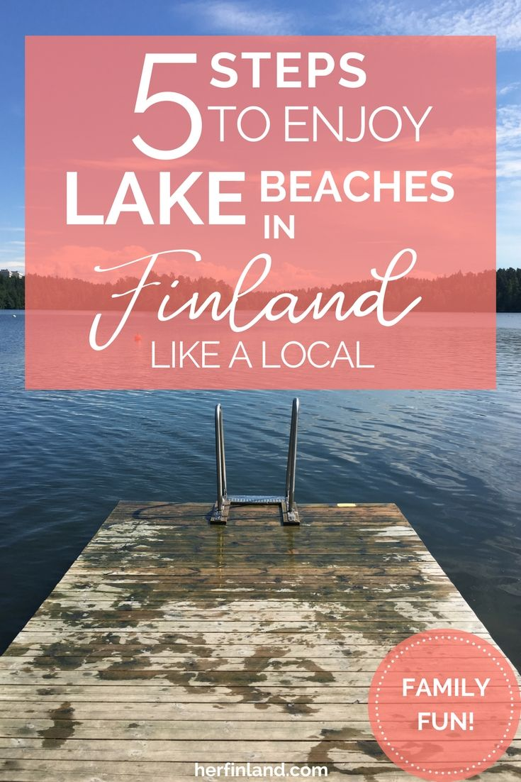 Lake beaches in Finland are the perfect warm day destinations. Family travel happiness guaranteed!