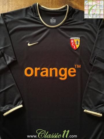 Official Nike RC Lens away long sleeve football shirt from the 2002/2003 season.