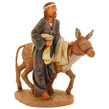 Baruch, man with donkey