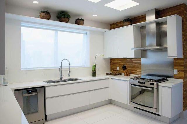 10 Cozinhas brancas e amadeiradas - veja modelos lindos e dicas! - Decor Salteado - Blog de Decoração e Arquitetura