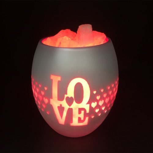 Glass Jar Lamp - Love