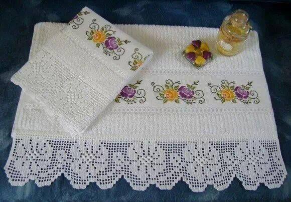 Beyaz dantel havlu kenarı modelimiz