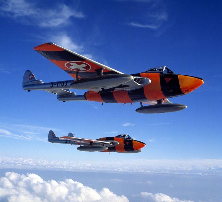Swiss Air Force De Havilland 100 Vampires