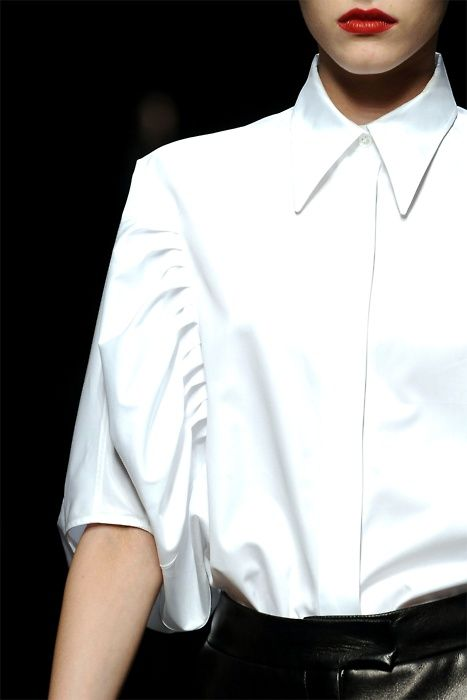 crispy white shirt - had one like this which I wore till it was threadbare