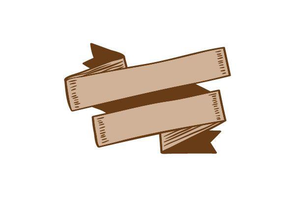 Folded Ribbon Vector Image #ribbons #vectorpack #handdrawnvector http://www.vectorvice.com/ribbons-vector-pack
