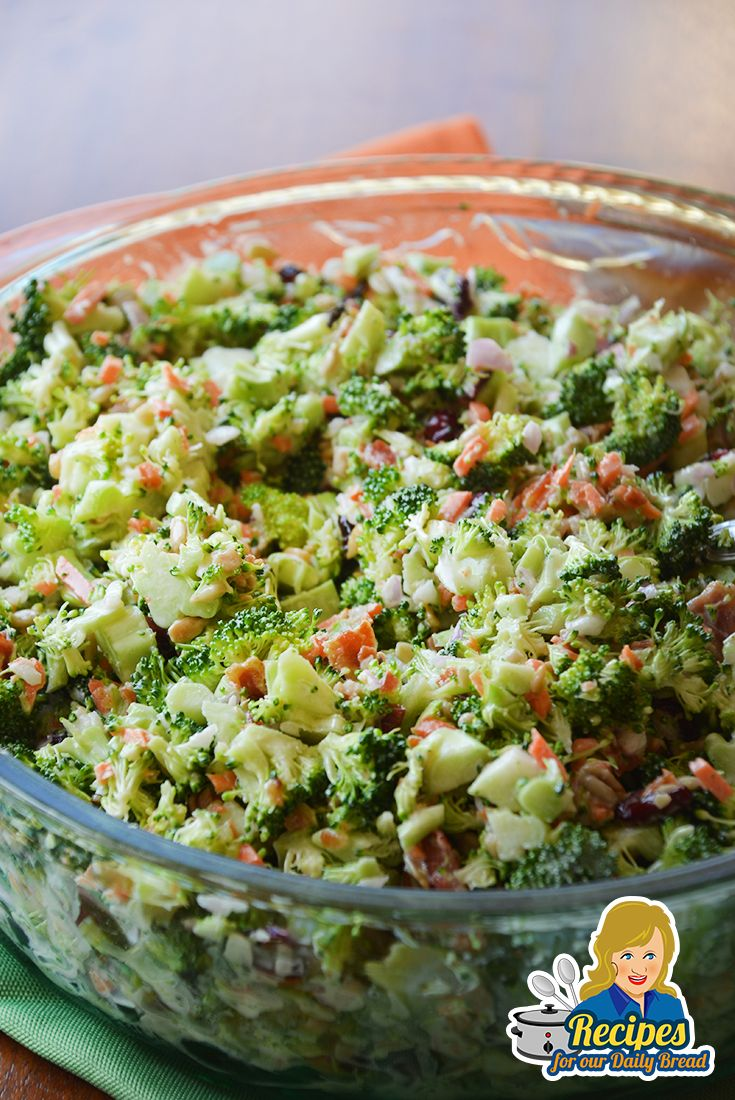 HOW TO MAKE AWESOME COLORFUL BACON BROCCOLI SALAD