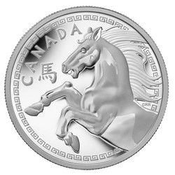 Royal Canadian Mint $250 2014 Fine Silver Coin - Year of the Horse $2249.95.