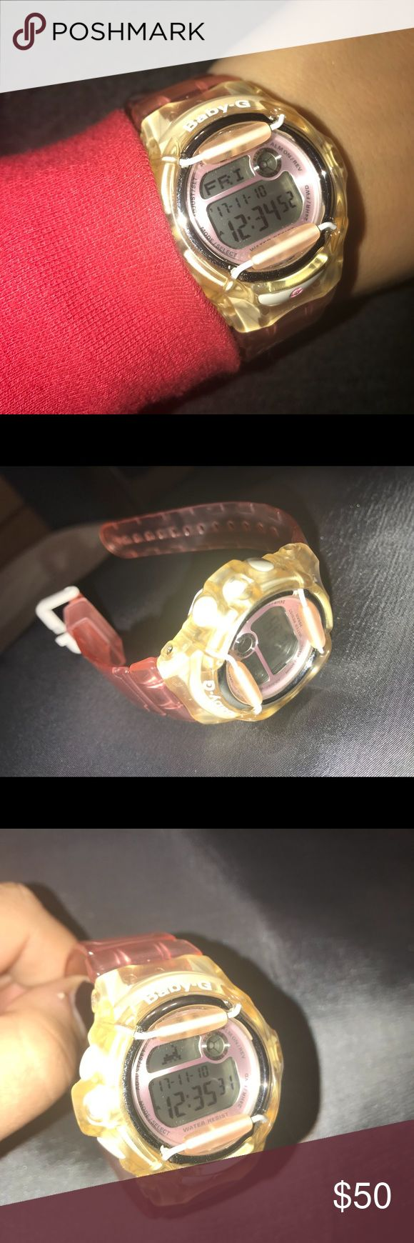 G shock baby g pink jelly watch Bought a few years ago, never wore it. No box. Like new. G-Shock Accessories Watches