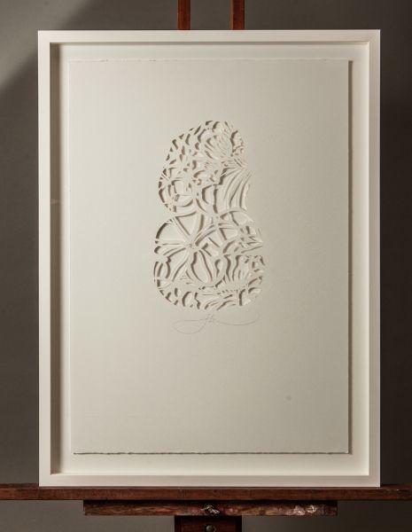 TIKI+IN+THE+CUT+(FRAMING+ADDITIONAL)+|+Hand+Cut+Stencil+Work Small:+350mm+x+500mm+$250 Large:+500mm+x+700mm+$350+|+Flox.co.nz