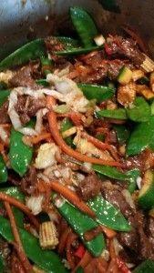 Asiatisk lyn wok med oksekød | Madlove http://madlove.dk/?p=293 #asianfood