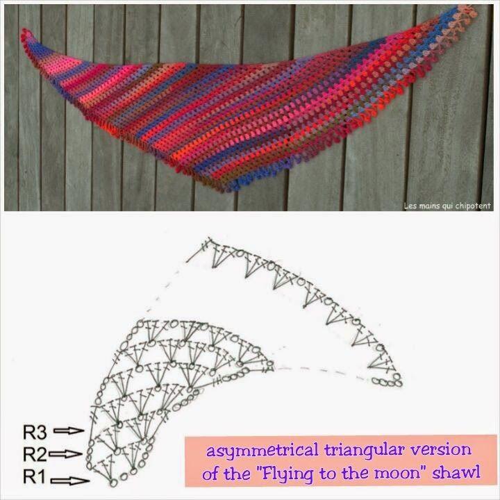 194 best Tää huivi elegia images on Pinterest   Crochet shawl ...