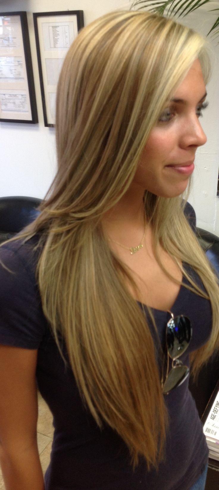 Long Hair with Golden Hight Lights