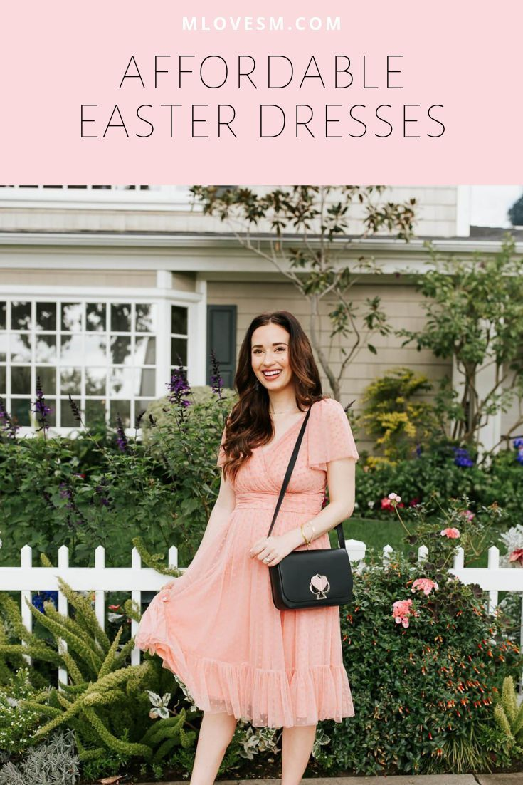 The Cutest Affordable Easter Dresses M Loves M Easter Dress Long Sleeve Floral Dress Holiday Outfit Inspiration [ 1102 x 735 Pixel ]