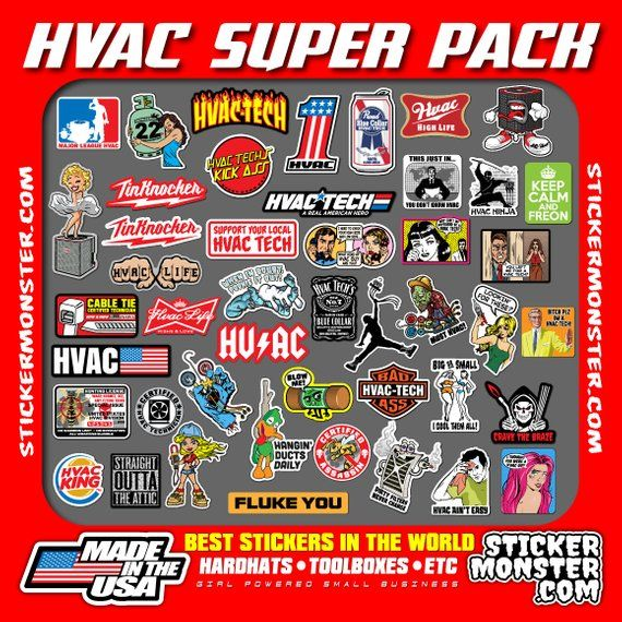 1 Hvac Tech Sticker Pack Ever Best Sticker Quality Youve Ever