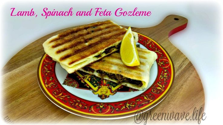 Lamb, Spinach and Feta Gozleme