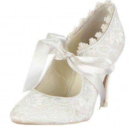 zapatos de novia estilo vintage wedding #shoes
