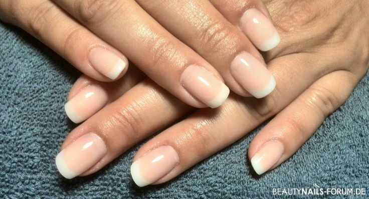 Nature french nails