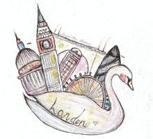 London Swan by ishkaart