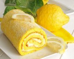 Gâteau roulé au citron meringué