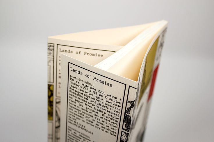 Dos Carré Collé en 13,5x20cm avec Rabats de 7cm / Couverture quadri sur papier Rives tradition ivoire naturel 250gr / Intérieur noir et blanc sur Olin Regular crème 120gr #rabat #flaps #cover