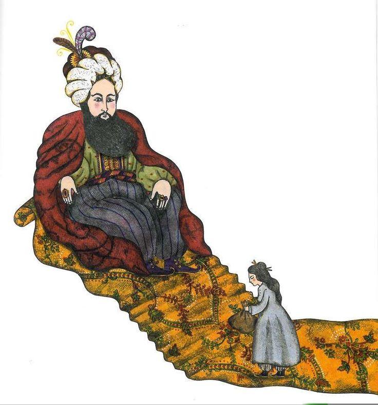 """Delphine Jacquot illustration for """"Contes des Mille et Une Nuits""""."""