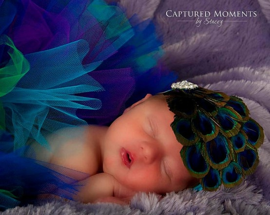 baby peacock costume - LOVE the feathered cap