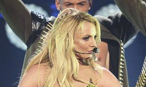 Britney Spears performs last September in London.