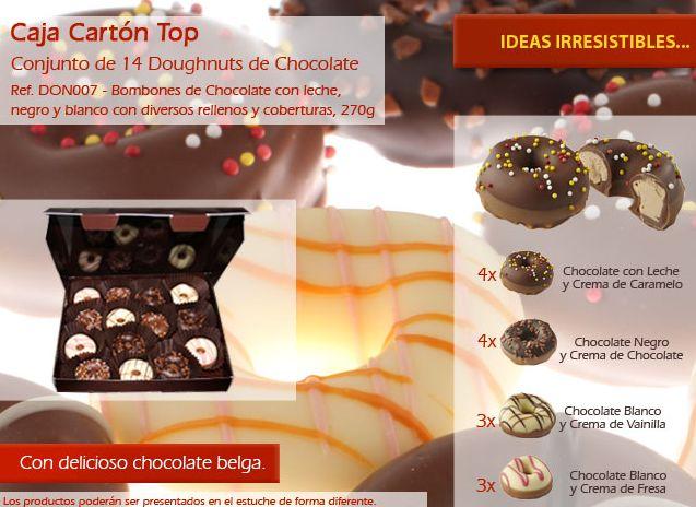 ¡Doughnuts de chocolate con varios rellenos una verdadera tentación!