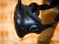 HTC Vive Pre is one step closer to virtual reality (pictures) HTC Vive's newest hardware gets lighter, changes its controller design, and adds a camera to see around you while in VR.