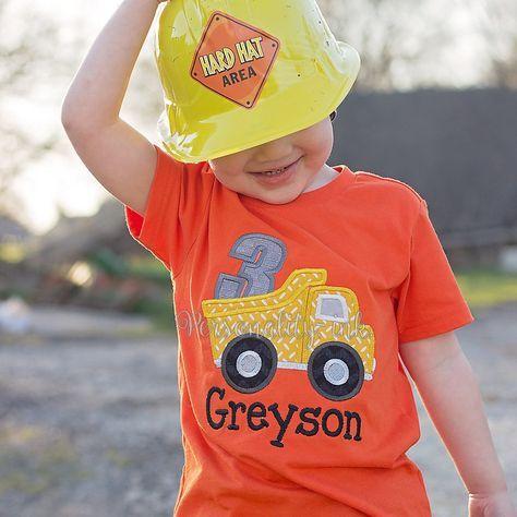 Dump Truck Construction Birthday Shirt