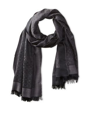 35% OFF Salvatore Ferragamo Men's Spigo Gan Scarf (Dark Grey)