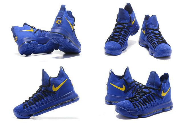 2017 KD Kevin Durant 9 IX Elite Golden State Warriors Royal Gold Newest Kevin Durant Shoes