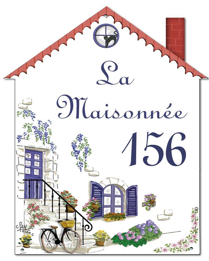 des plaques émaillées avec formes originales pour le nom ou le numero de votre maison http://www.artotemcreation.fr/