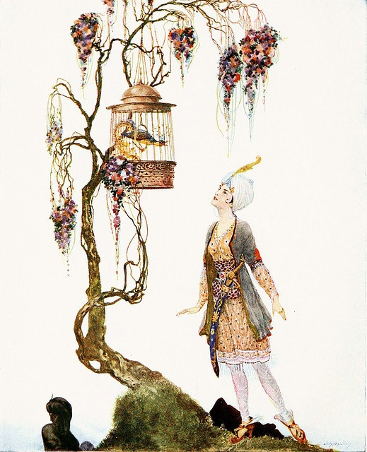 "from ""Arabian Nights""  Willy Pogany"
