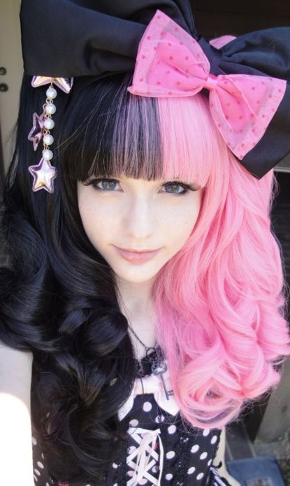 Pink And Black Hair Pinterest • The worl...