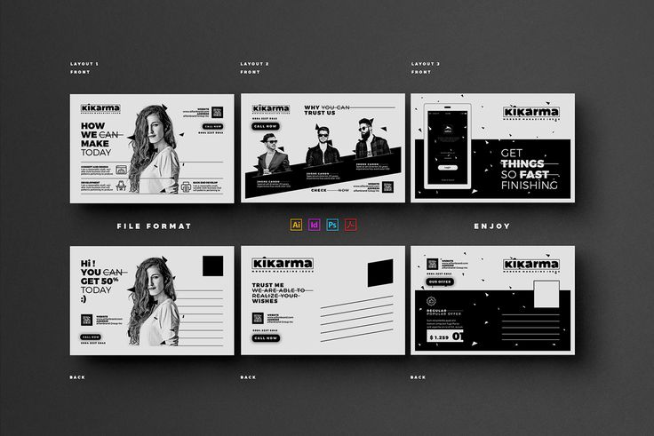Marketing Postcard on Behance