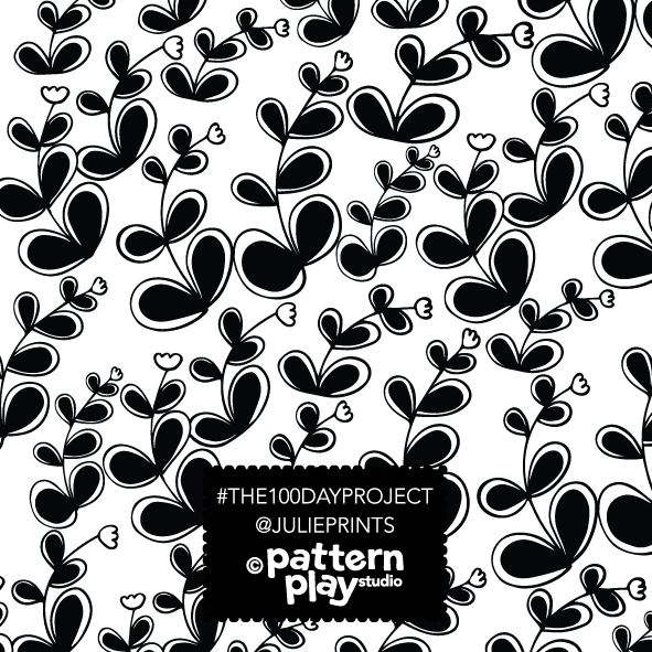 Black and white floral. Surface pattern design by  Julie Harrison www.patternplaystudio.com Surface Pattern design - black flowers