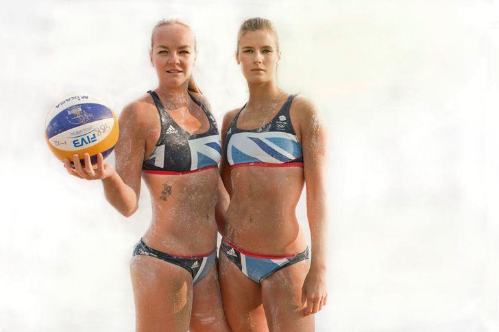 Team GB's women's beach volleyball  players Shauna Mullin and Zara Dampney