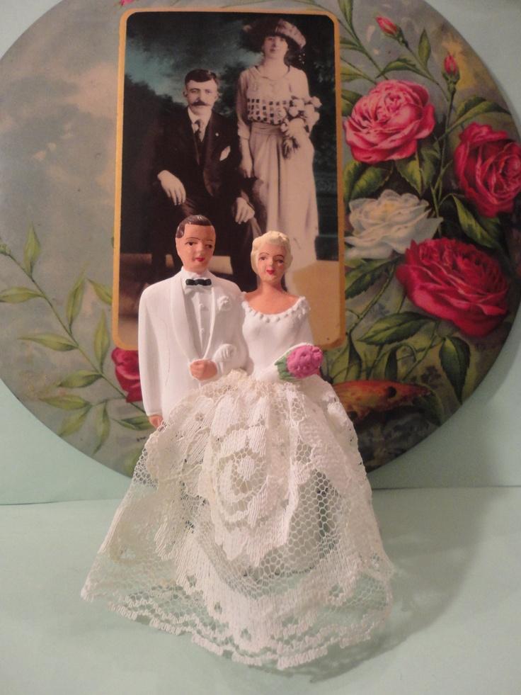 121 best vintage wedding cake topper images on pinterest retro weddings vintage weddings and. Black Bedroom Furniture Sets. Home Design Ideas