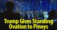 So proud! President Donald Trump other leaders gives Filipino artist a standing ovation Share