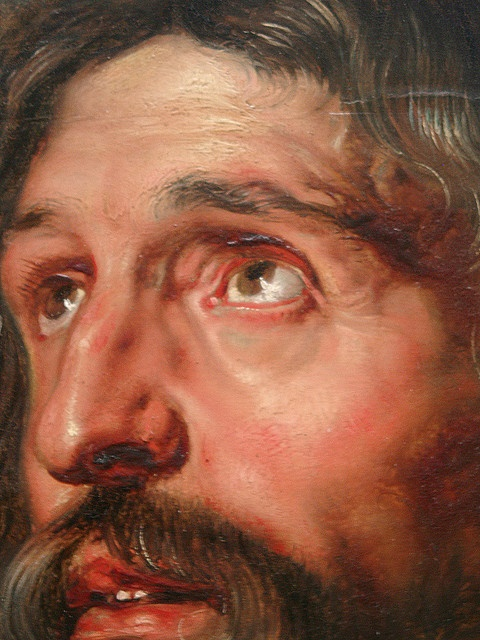"""Study of Two Heads"" (close up) - Peter Paul Rubens"