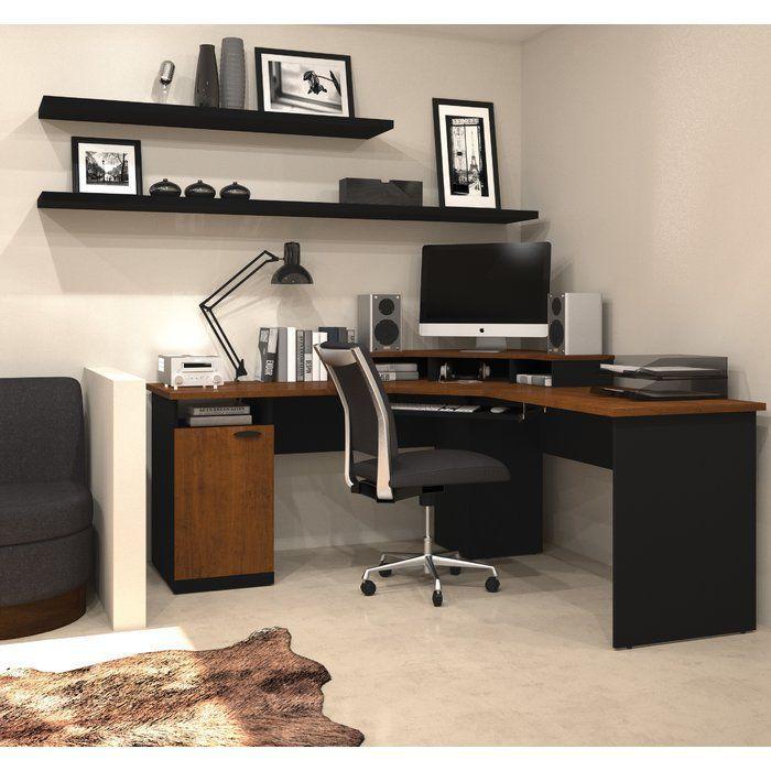 Dark Diy Computer Desk Ideas For Home Office Corner Workstation Home Office Design Corner Workstation Desk
