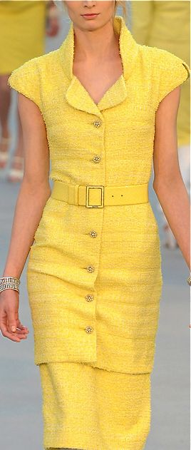 Chanel Love the color, the style, the neckline, the whole look!