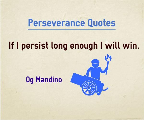 Persistence Quotes For Work: 25+ Best Perseverance Quotes On Pinterest