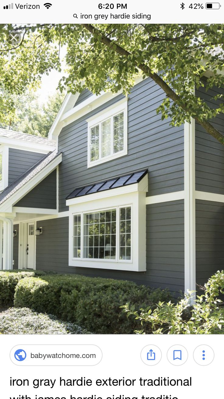 Iron grey Metal roof colors, Bow window, Updating house